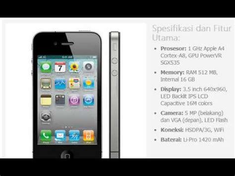 Hp Iphone Appel harga hp apple iphone 4 16gb
