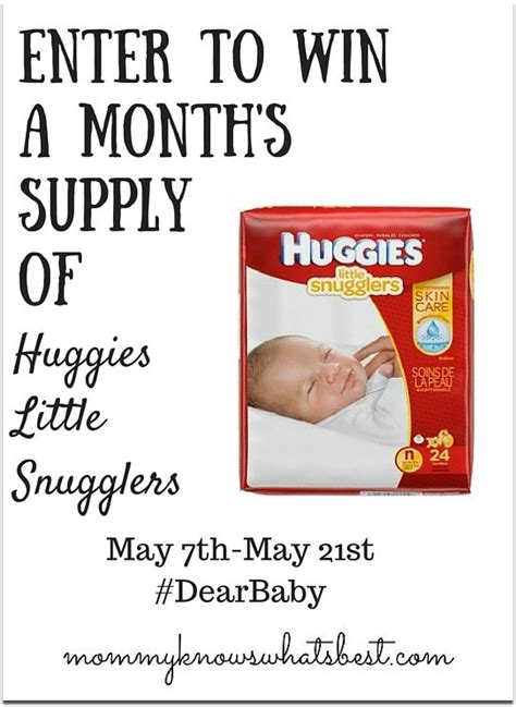 Huggies Giveaway - huggies little snugglers letters to baby