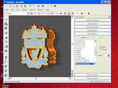 video tutorial xara3d tutorial how to make 3d logo use xara3d part1 cp fun