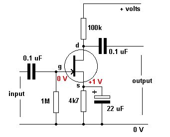 transistor fet autopolarizacion junction fet as an lifier tutorial circuits field effect transistor electronic hobby