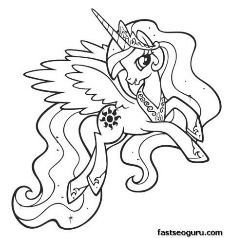 coloring pages princess celestia princess celestia coloring pages