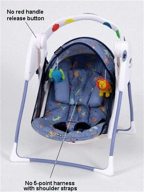 travel baby swing cpsc graco children s products announce recall of travel