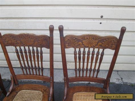 antique oak dining room sets 56629 set 4 antique solid oak dining room chair s chairs for sale in united states