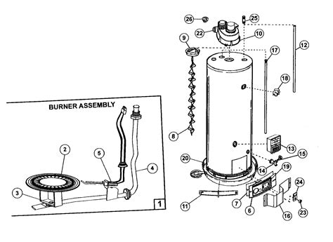 gas water heater diagram gas free engine image for user