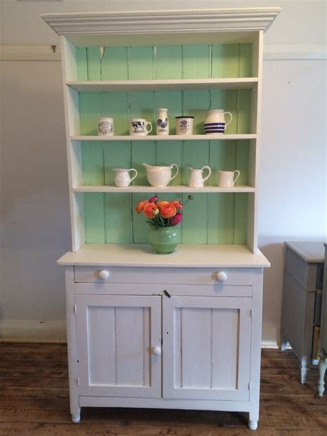 Painted Kitchen Hutch lilyfield vintage hutch green and white
