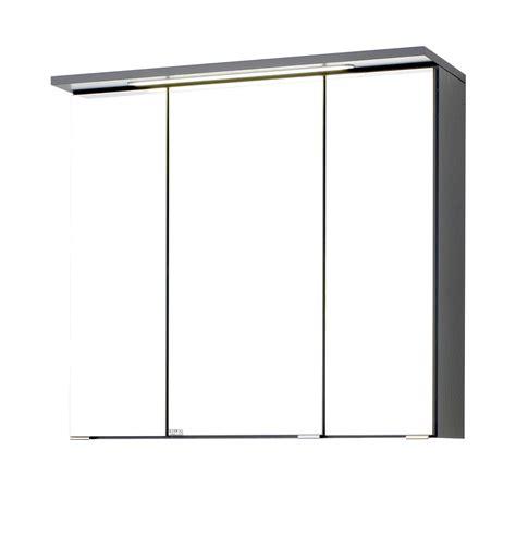 bad spiegelschrank bologna 3 t 252 rig mit led lichtleiste - Spiegelschrank 70 Cm Breit Led