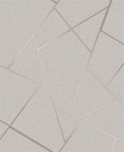 Fine Decor Quartz Fractal Geo Rose Gold Off White