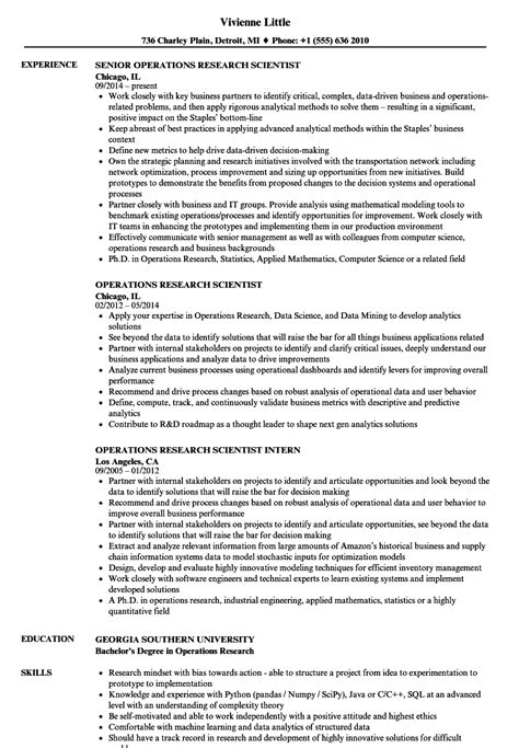 Operations Research Analyst Cover Letter by Operations Research Analyst Sle Resume Inquiring Letter Sle