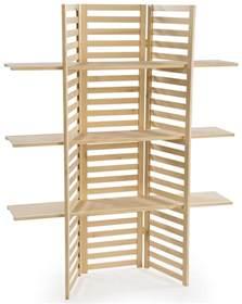 retail wood shelving wooden retail shelving unit w 3 shelves folding panels