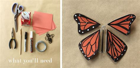 How To Make A Paper Butterfly That Flies - wind up paper butterflies