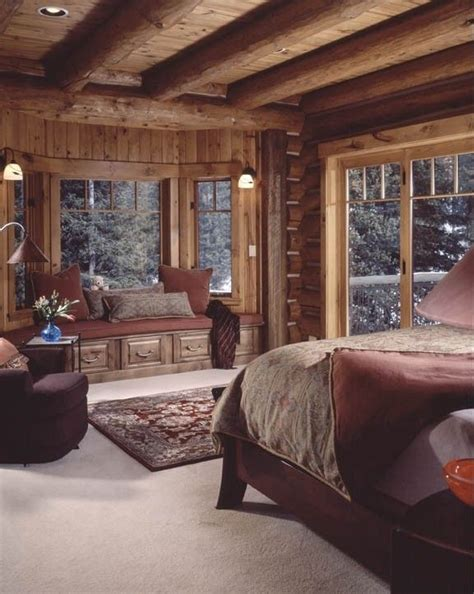 Log Home Bedroom Decorating Ideas Warm And Cozy Cabin Bedroom Bebe This Cabin Style Decor House Decorating Inside