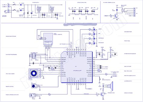 microcontroller schematic diagram circuit diagram electronic circuit diagram and layout