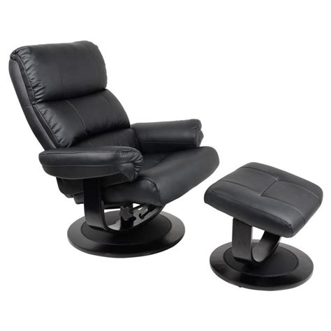 armchairs with footstool luxury black relaxer chair recliner armchair with foot stool