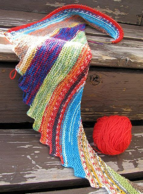 knitted scarf patterns using sock yarn a great non boring knitting project use the quot hitchhiker