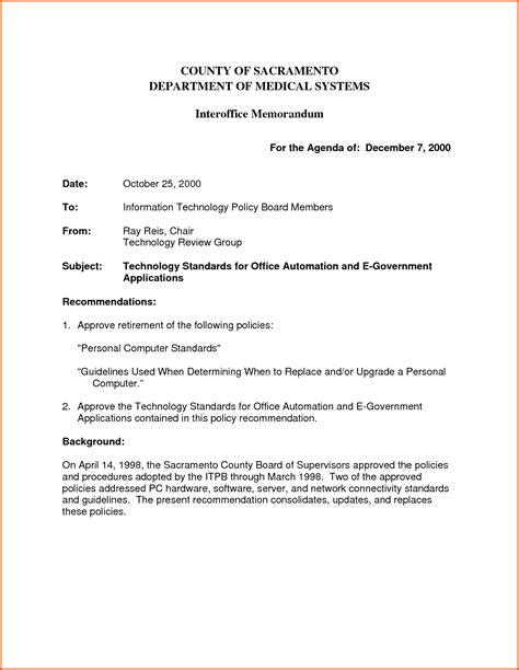 Memo Update Format Update 16564 Inter Office Communication Letter 32 Documents Bizdoska