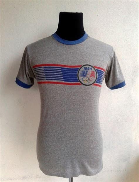 Gs Manset Leher Polos longgokbundle 013 3107398 vintage 1984 levis olympic ringer kain pasir 50 50 shirt usa sold