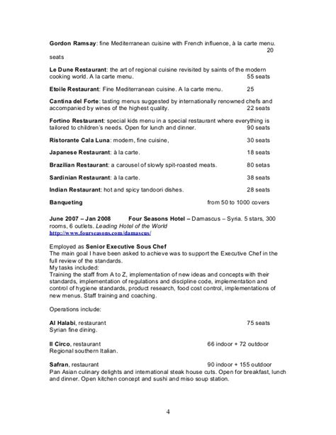 gordon ramsay resume resume ideas