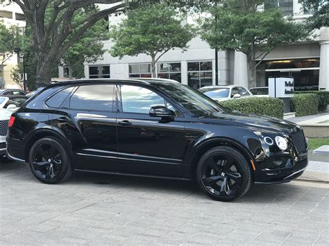 bentley houston 2018 bentley bentayga black edition from bentley houston