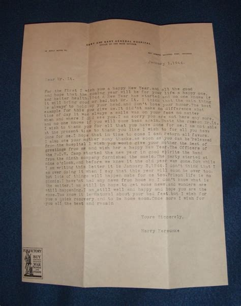 thank you letter after german ww2 german pow letter of thanks to us officer collectors