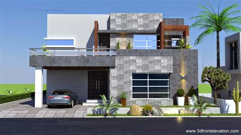5 in 1 home design download 3d front elevation com 1 kanal contemporary house plan