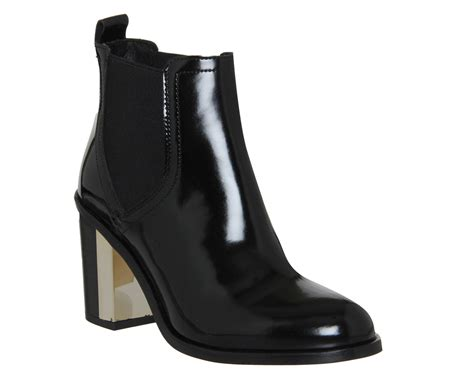 womens office clementine chelsea boot black patent boots