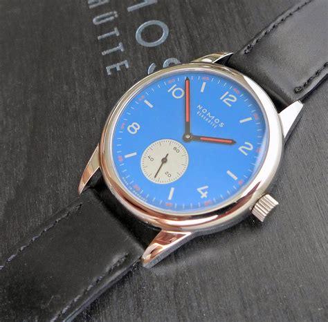 Nomos Orange fs nomos club hanseat 100 limited edition blue