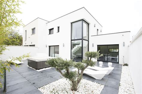 villeurbanne maison contemporaine 224 toit plat agence