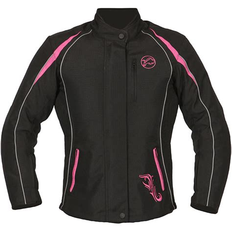 pink motorcycle jacket buffalo verona ladies motorcycle jacket black pink