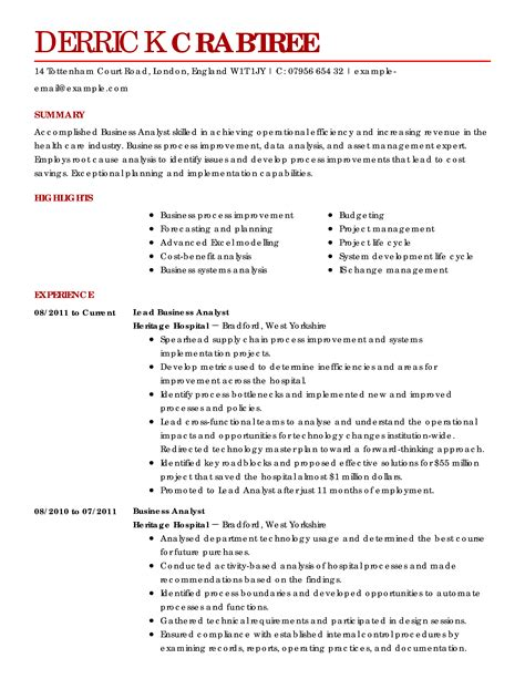 Resume Exles For Business Business Resume Exles Business Sle Resumes Livecareer