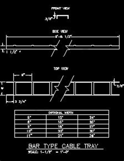 cable tray section detail communication and security systems sle drawings
