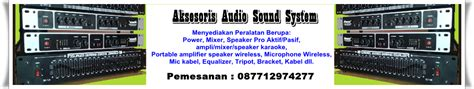 Paket 3 Way System Active Reverb Acoustic Crescendo power lifier plus power mixer dilengkapi reverb dan mp3 player professional sound system