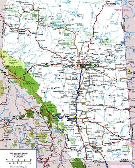 printable road maps of alberta alberta