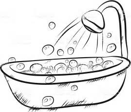 Converting Bath To Shower a cartoon bath and shower full of bubbles stock vector art