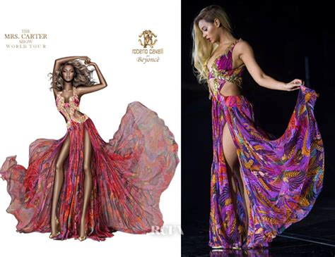 More Cavalli Design Sketches For Spice Tour The Union Is Back by Beyonce Knowles In Roberto Cavalli Mrs World Tour