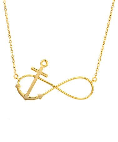 infinity and anchor necklace gold infinity anchor necklace