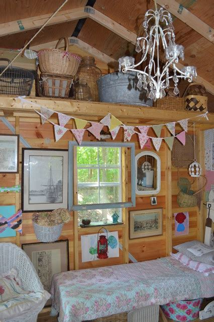 shabby chic shed eclectic garage  shed charlotte
