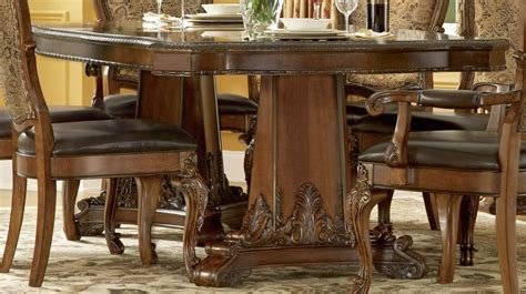 old world pedestal dining table dining room furniture a r t old world double pedestal dining table in cherry by