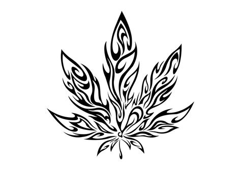 tribal weed tattoos tribal marijuana leaf by cuba12 tattooed