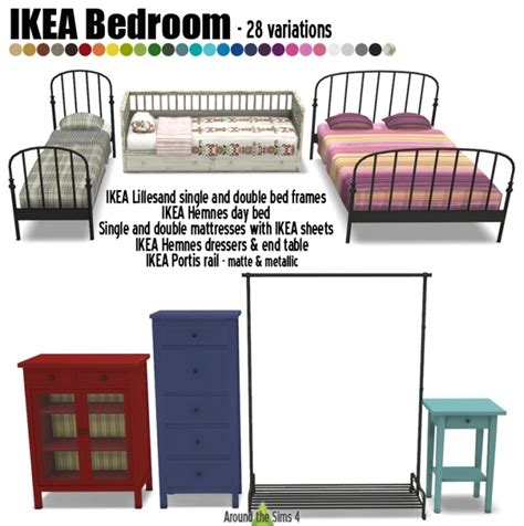 ikea like furniture ikea like bedroom by sandy at around the sims 4 via sims 4