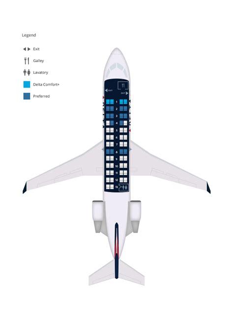 canadair regional jet seating bombardier crj 200 endeavor skywest delta air lines