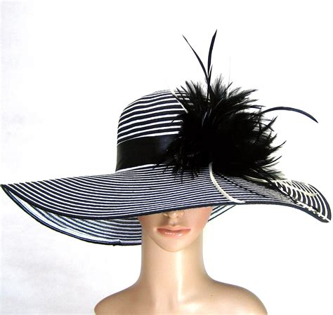 derby hat church hat dress hat church hat with feathers wide