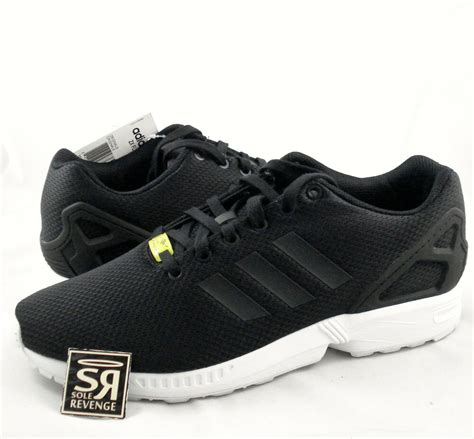 new adidas originals mens zx flux shoes black white zxz flyknit 8000 yellow ebay