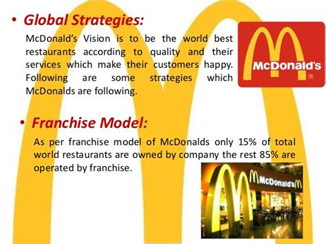 layout strategy for mcdonalds mcdonald comparative analysis