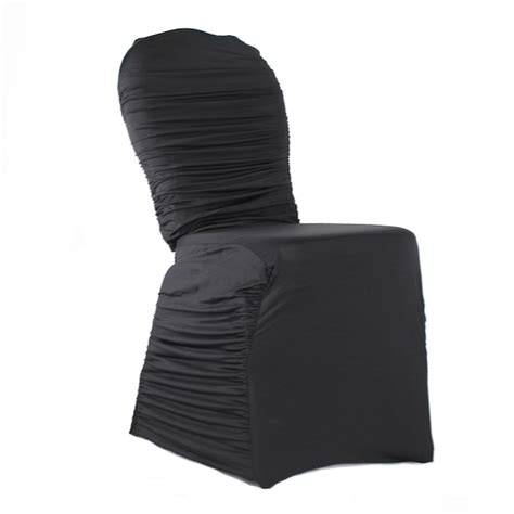Ruched Chair Covers by Black Chair Covers For Weddings Black Spandex Chair Covers