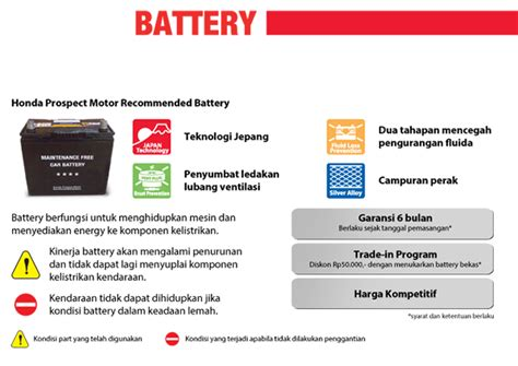 Informasi Batery Faq honda genuine part battery honda indonesia