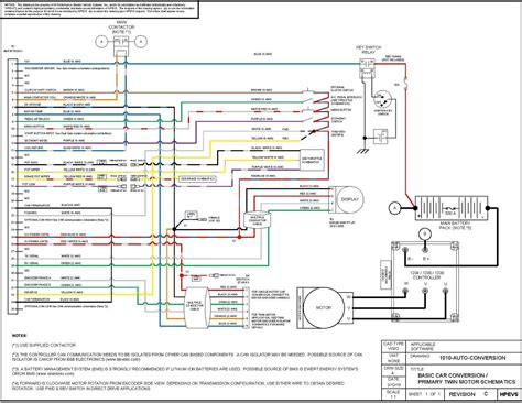 car electrical diagram ev conversion schematic