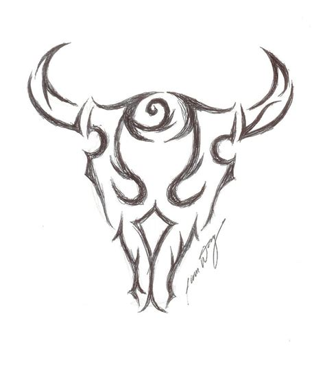 tribal bull skull tattoos bull images designs
