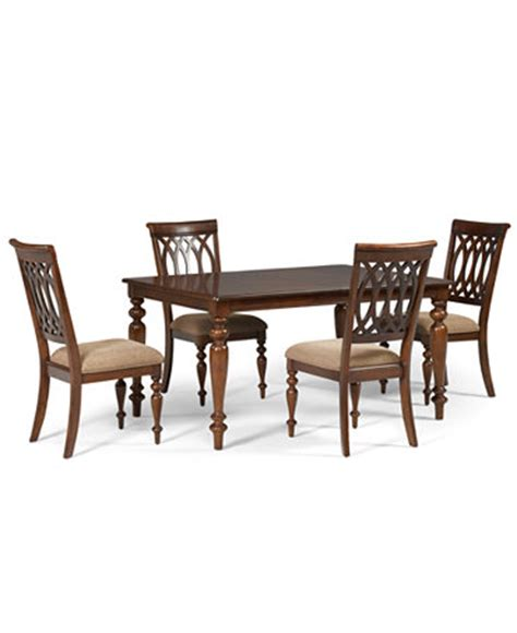 crestwood dining room set crestwood dining room furniture 5 set dining table and 4 side chairs furniture macy s