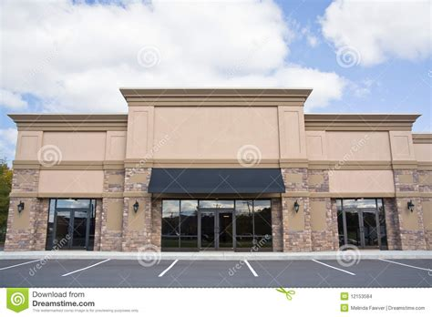 Door Awning Plans Retail Storefront Stock Photo Image Of Estate Facade