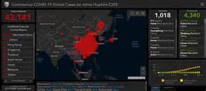 interactive map  johns hopkins shows coronavirus